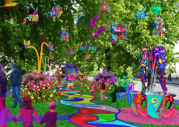 """Projekt """"Zapach koloru"""" autorstwa Carmen Einfinger zrealizowany ma zostać w 2019 roku na skwerze przy ul. Dolnej."""