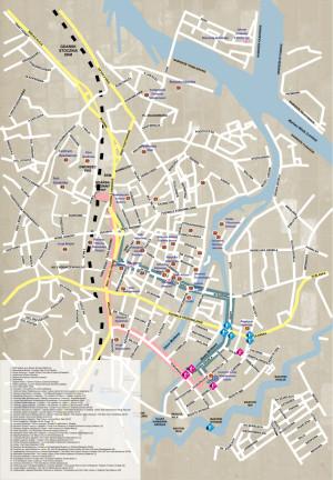 Zobacz projekty Galerii Zewnętrznej Miasta Gdańska na mapie centrum Gdańska (numery od 1 do 10).
