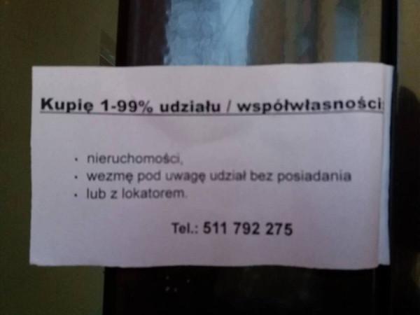 Takie oto ogłoszenia pojawiły się w ostatnich dniach w kilku dzielnicach Gdańska.