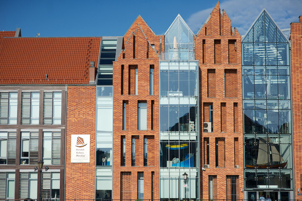 Ośrodek Kultury Morskiej (na zdjęciu) to obok Spichlerzy na Ołowiance najlepiej dostosowana do potrzeb osób niepełnosprawnych jednostka Narodowego Muzeum Morskiego.