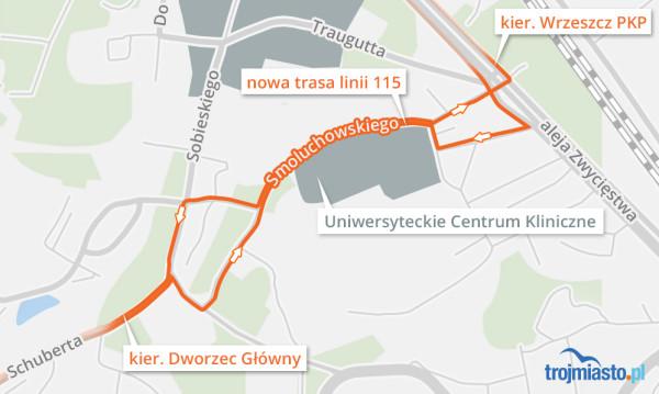 Zmiany w przebiegu linii 115 wejdą w życie najwcześniej w marcu br.