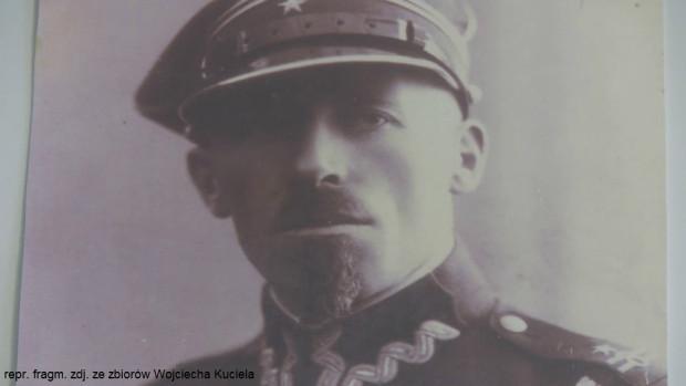 Ppłk Stanisław Kuciel, dowódca 3. Dywizjonu Żandarmerii w Grodnie.