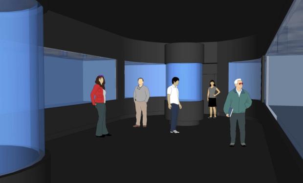 Wizualizacja sali Wodne Zwierzęta Świata po remoncie.