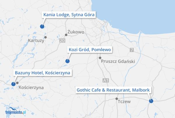 Mapa z polecanymi przez nas lokalami