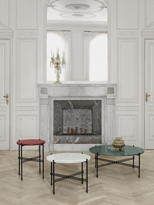 Stół TS lounge marki GUBI.dk, dostępny w salonie Mesmetric, cena od 2200 zł