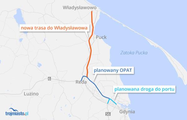 Ministerialne plany rozbudowy dróg na północ od Trójmiasta.