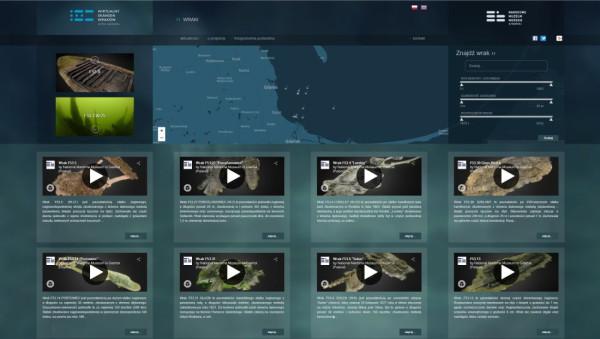 Na wirtualnym skansenie wraków jest też widok zatoki i zaznaczona lokalizacja zatopionych statków.