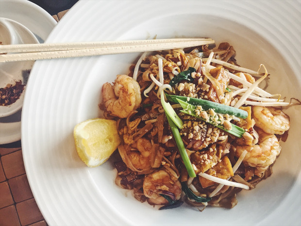 Pad thai kung, czyli z krewetkami w Thai Thai.