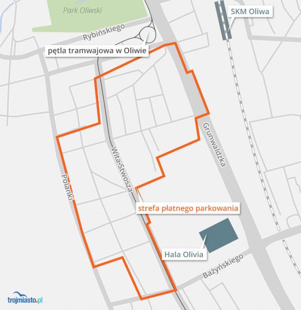 Strefa płatnego parkowania w Oliwie w przyszłym roku ma zostać powiększona.