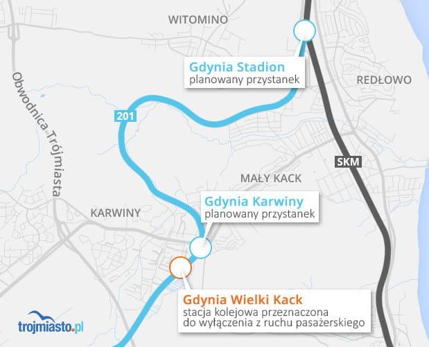 Planowane przystanki w Gdyni