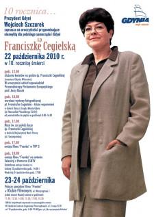 Program obchodów rocznicy śmierci Franciszki Cegielskiej.