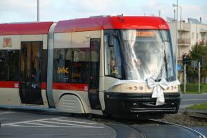 Daniel Gralath na szynach, czyli gdański tramwaj z numerem bocznym 1011.