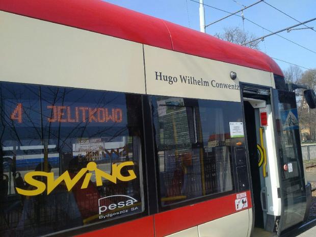 Imię Hugona Conwentza nosi tramwaj Pesa o numerze bocznym 1035.