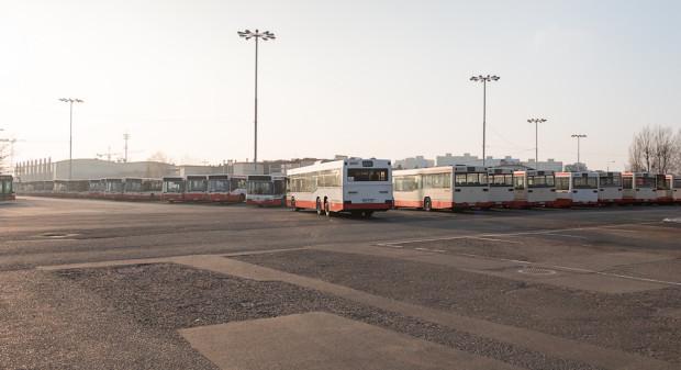 Zajezdnia autobusowa przy al. Hallera - stan obecny.