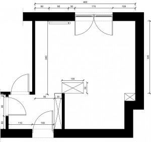 Rzut i wymiary pomieszczenia