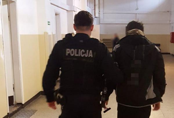 Jeden z zatrzymanych 15-latków.