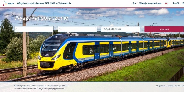 Wybór dowolnego biletu poprzedzony jest wyszukaniem połączenia kolejowego.