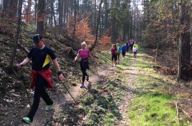 W Witominie rywalizowano biegając lub w nordic walking.