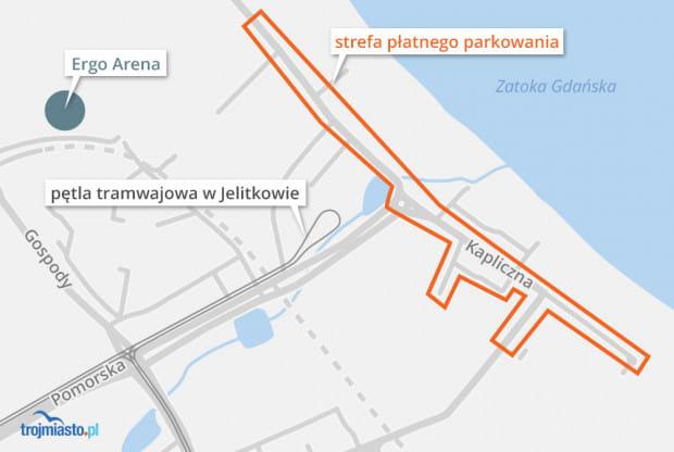 W Jelitkowie strefa obejmie Jelitkowską, Kapliczną, Nadmorską, Piastowską i Wypoczynkową.