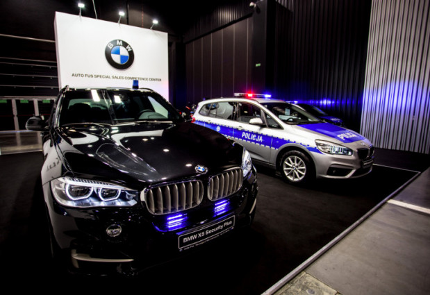 Rządowe BMW X5 - to w naszej ocenie jeden z ciekawszych pojazdów, który zaparkował w halach AmberExpo.