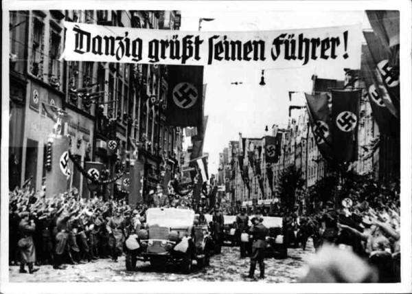 Gdy 19 września 1939 r. Adolf Hitler przyjechał do Gdańska, pozdrawiały go tysiące mieszkańców miasta.