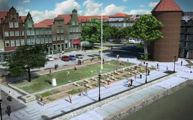 Koncepcja zagospodarowania przestrzeni na Targu Rybnym przygotowana przez FRAG. W tym momencie projekt plasuje się na piątym miejscu.