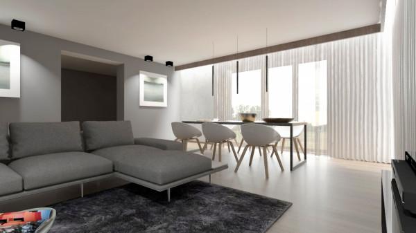 Koncepcja pierwsza. Umieszczenie stołu przy dużych oknach gwarantuje dobre naświetlenie podczas spożywania posiłków i innych czynności jakie można wykonać przy stole. Jednocześnie w czasie jedzenia spoglądać można za okno.