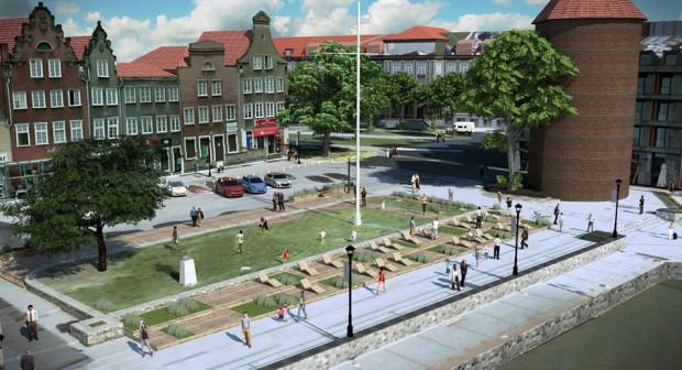 Pomysł poprawy zagospodarowania Targu Rybnego, który nie doczeka się realizacji.