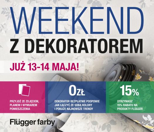 Darmowe porady dekoratora wnętrz już w ten weekend w sklepie Flügger w Parku Handlowym Matarnia przy Złotej Karczmie.