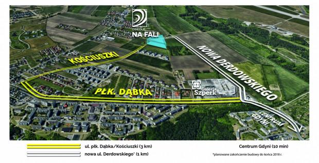 Do osiedla Na Fali dojechać będzie można nową, wygodną drogą.