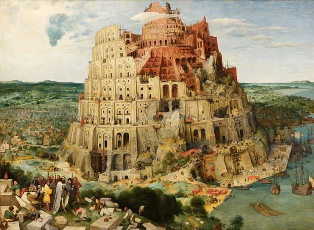 Biblijna wieża Babel nie powstała, bo nie chcąc dopuścić do stworzenia budowli, która miałaby zagrozić jego majestatowi, Bóg pomieszał języki budowniczym. Dziś, choć zajmujemy się sprawami nieco bardziej przyziemnymi, sami utrudniamy sobie komunikację. Obraz Piotra Bruegla z 1563 r.