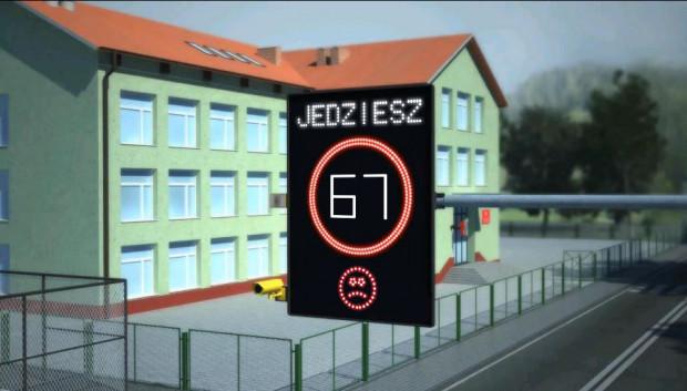 Dzięki monitoringowi prędkości ma być bezpiecznie przy placówkach oświatowych.