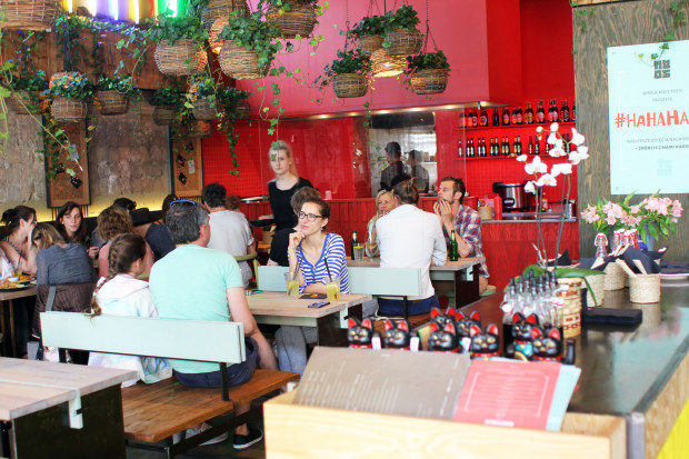 Wnętrze restauracji Haos w Gdyni.