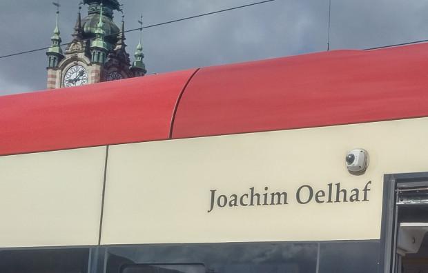 Joachim Oelhaf jest patronem tramwaju Pesa Swing 1029.