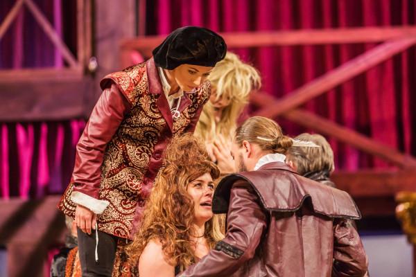 Zakochana w Szekspirze Viola dołącza do trupy Williama w przebraniu mężczyzny i musi przywyknąć do stylu bycia, z jakim jako dziewczyna z dobrego domu nigdy wcześniej się nie spotkała.