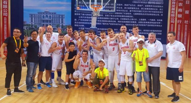 Kadra Polski po ostatnim meczu w Chinach.