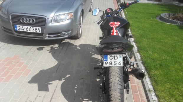 Motocykl pana Daniela, który zarekwirowała sopocka policja.