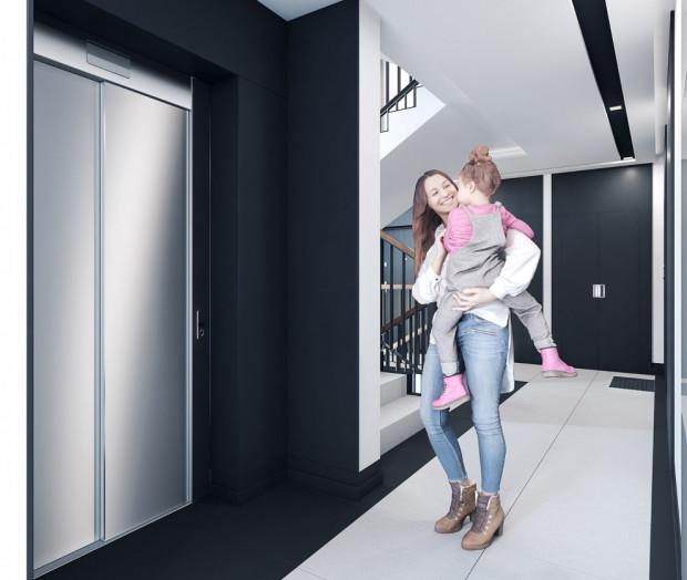 Budynek będzie wyposażony w windy łączące najwyższe piętro z podziemnym garażem.