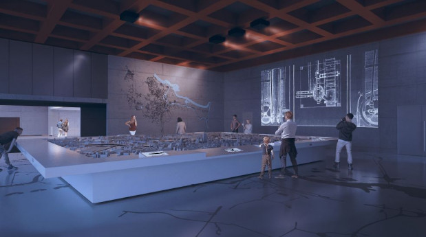W sali na podłodze znajdzie się grafika z mapą. Kolejna, przedstawiająca cały Gdańsk, wisieć będzie na ścianie.