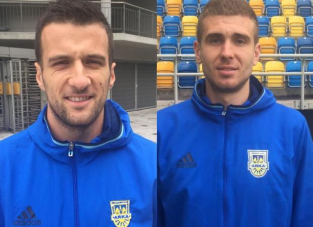 Filip Jazvić (z lewej) i Andrij Miszczenko kandydatami na piłkarzy Arki Gdynia.
