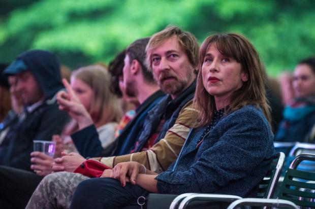 Jednym z widzów koncertu była przewodnicząca tegorocznego jury Sopot Film Festival, aktorka Katarzyna Herman.