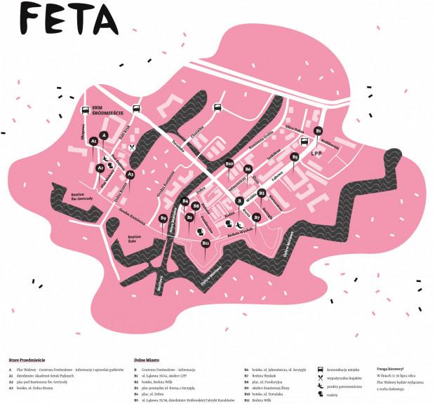 Zobacz mapę Festiwalu FETA w tym roku.