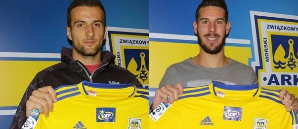 Filip Jazvić (z lewej) i Alvaro Rey (z prawej) to kolejne zagraniczne wzmocnienia Arki przed nowym sezonem.