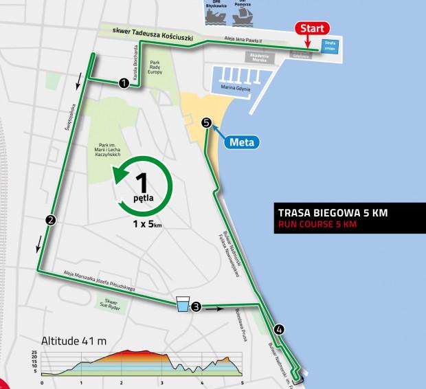 Trasa biegowa - 5 km.
