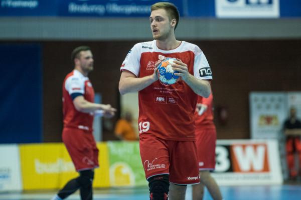 Łukasz Rogulski w dwóch meczach w Kwidzynie rzucił dla Wybrzeża 13 bramek.