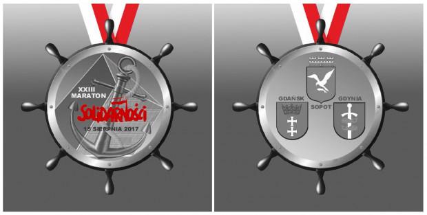 Takie medale otrzymają uczestnicy, którzy ukończą bieg w czasie do 5:30.