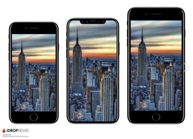 Tak wyglądają trzy nowe modele iPhone'a. (8, X Edition i 8 Plus)