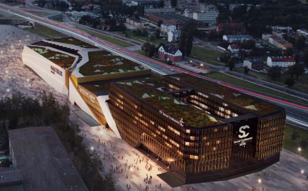 Tak wygląda najnowsza wizualizacja prezentująca kompleks rozrywkowy, który ma powstać przy stadionie.