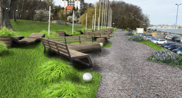 Najwięcej projektów dotyczy rekreacji. 14 pomysłów jest związanych z estetyzacją. Na zdjęciu propozycja wyglądu skweru Arki Gdynia po modernizacji.