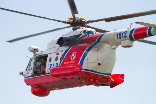 Śmigłowiec ratownictwa morskiego Mi-14.